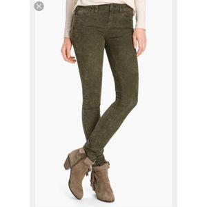 Free People dark green corduroy pants jeans